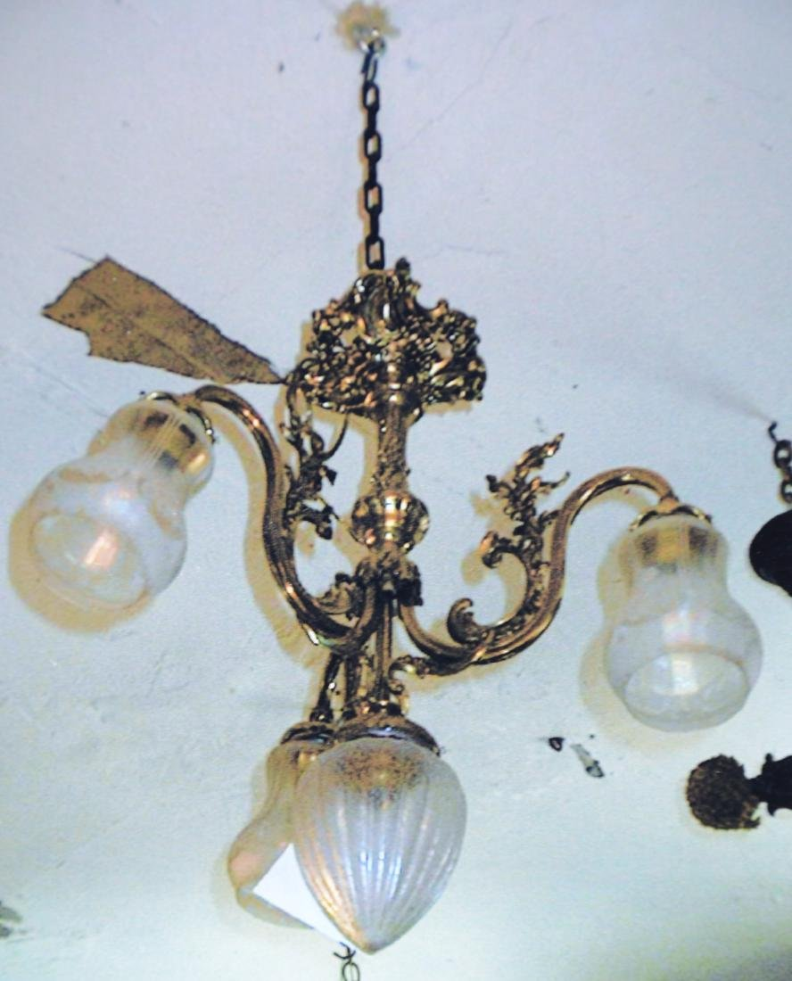 French LXV Style 3 Arm Chandelier