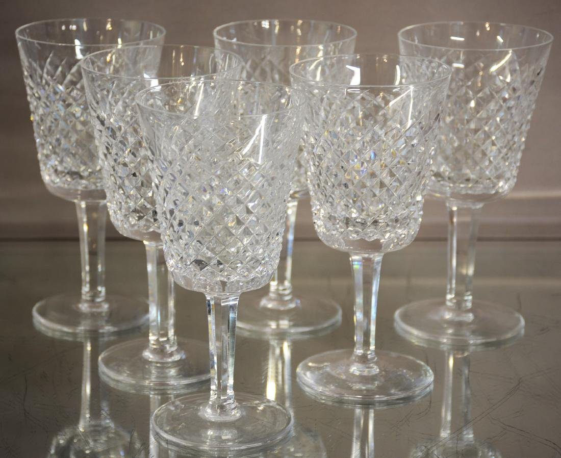 Six Water Crystal Goblets