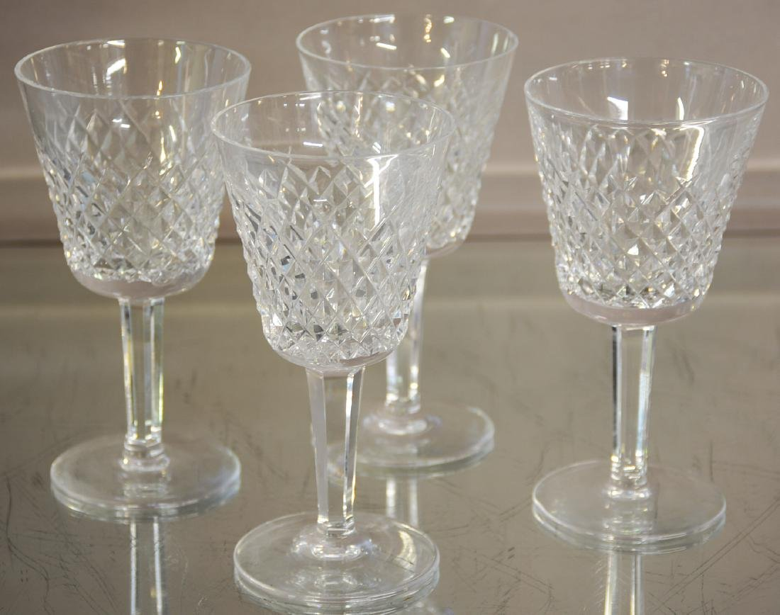 Four Waterford Crystal Glasses