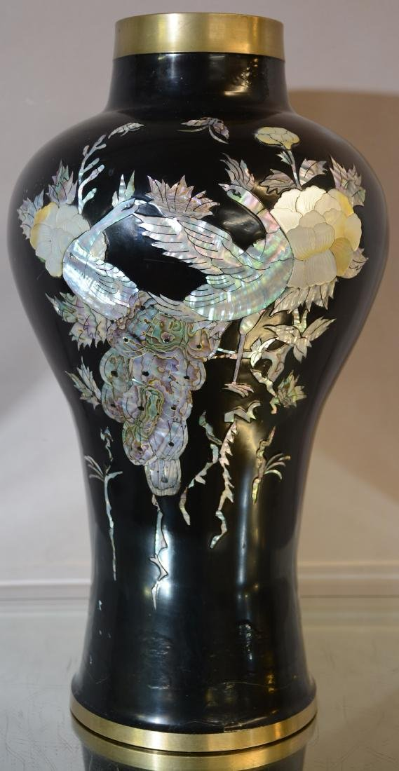 Mother of Pearl Decorated Vase
