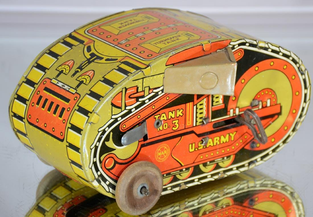 Tank No. 3 US ARMY Max Tin Windup Toy