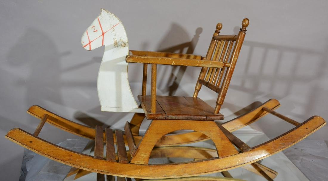 Childs Wooden Rocking Chair Horse