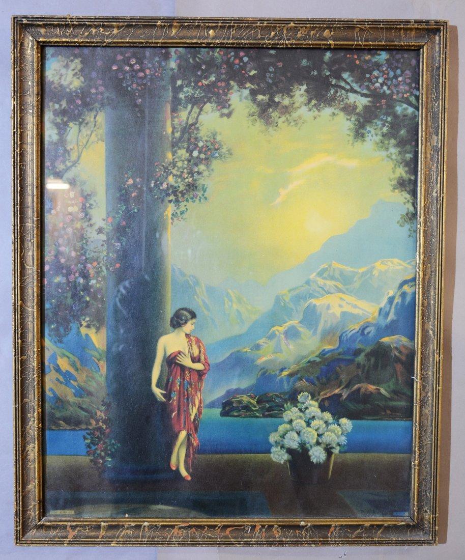 """Sunrise"" Art Nouveau Style Print & Frame"