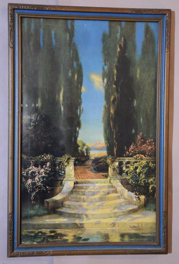 Art Nouveau Style R. Atkinson Fox Print & Frame