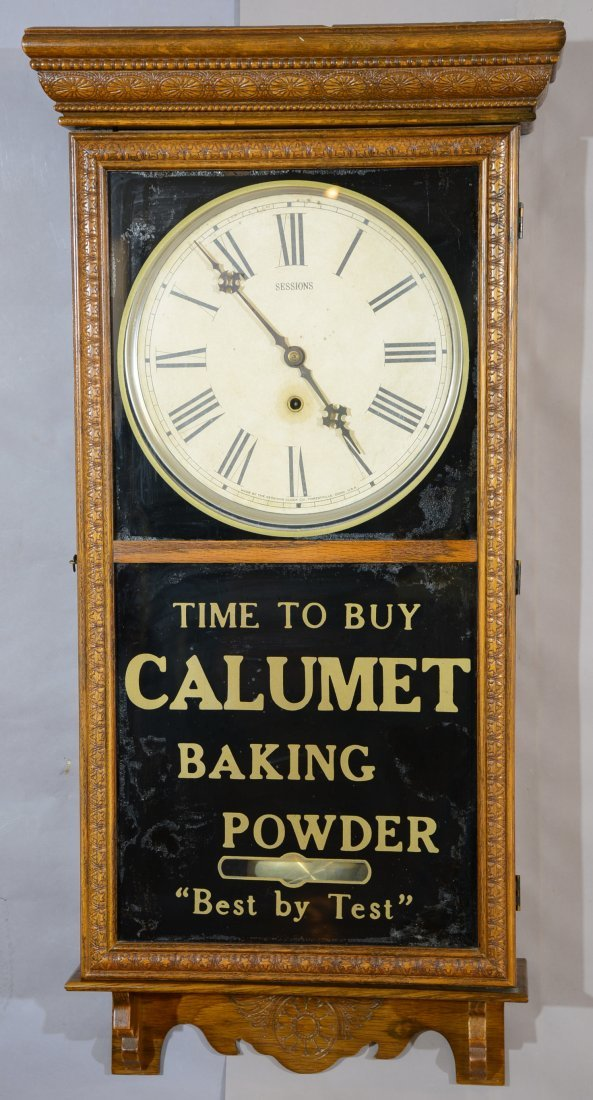 """Calumet"" Baking Powder Sessions Oak Clock"