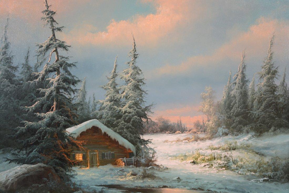 Ludwig Munningen Mountainscape Oil on Canvas - 2