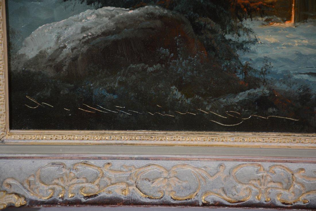 Ludwig Munningen Mountainscape Oil on Canvas - 3