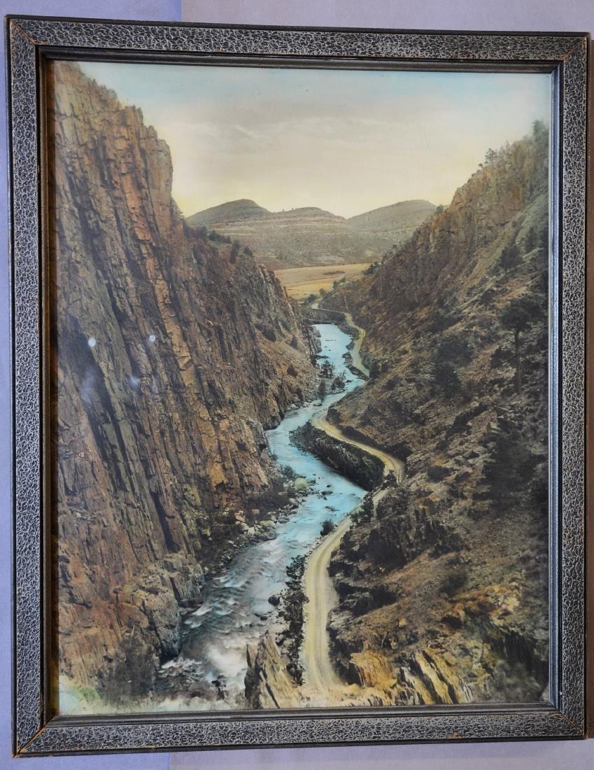 Mountain & River Scene Photo