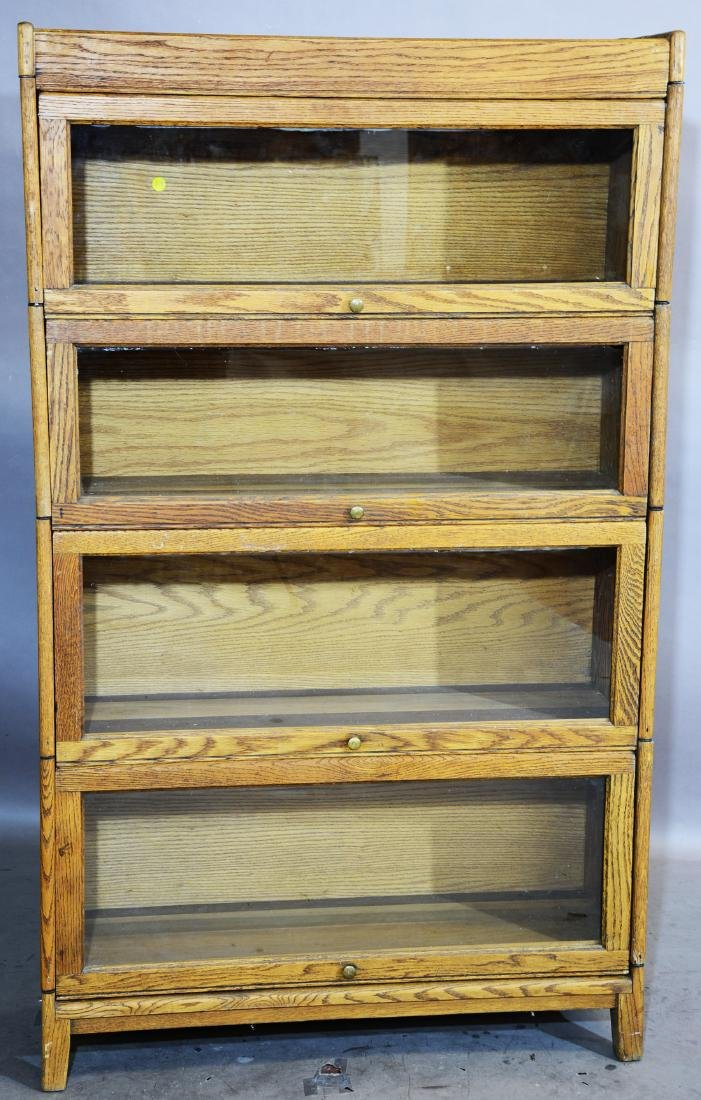 4 Section Oak Stacking Bookcase