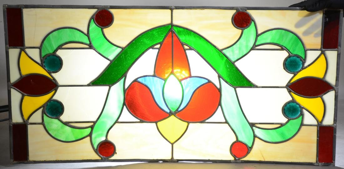 7 Stain Glass Panels with 8 Jewels in Each Panel - 2