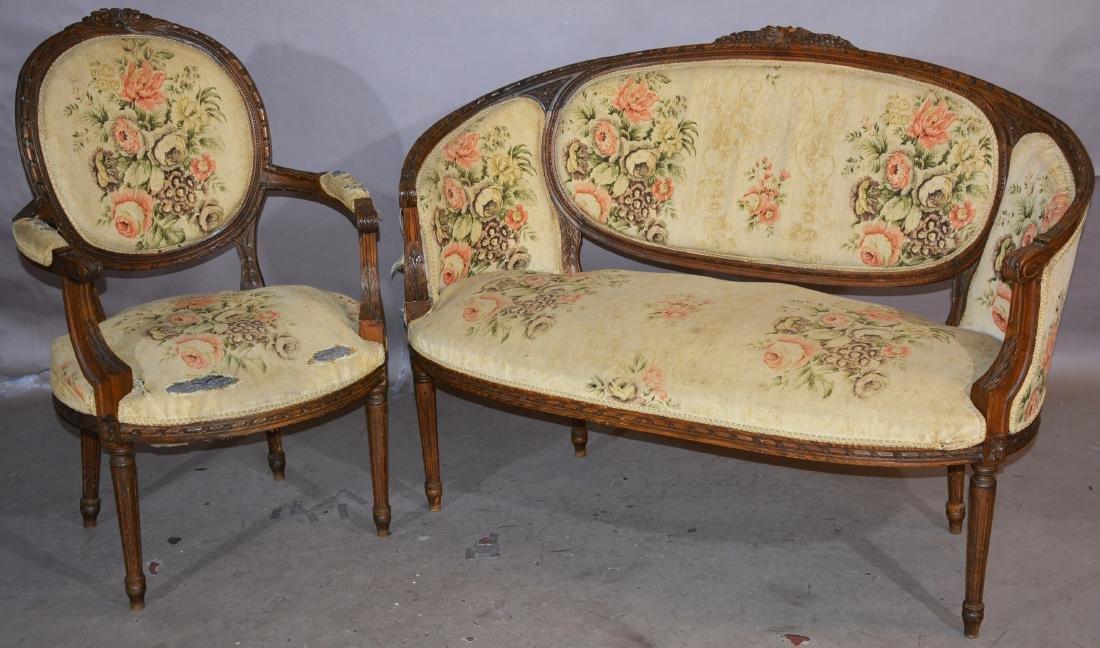 French Louis XVI Style 2 Piece Parlor Set