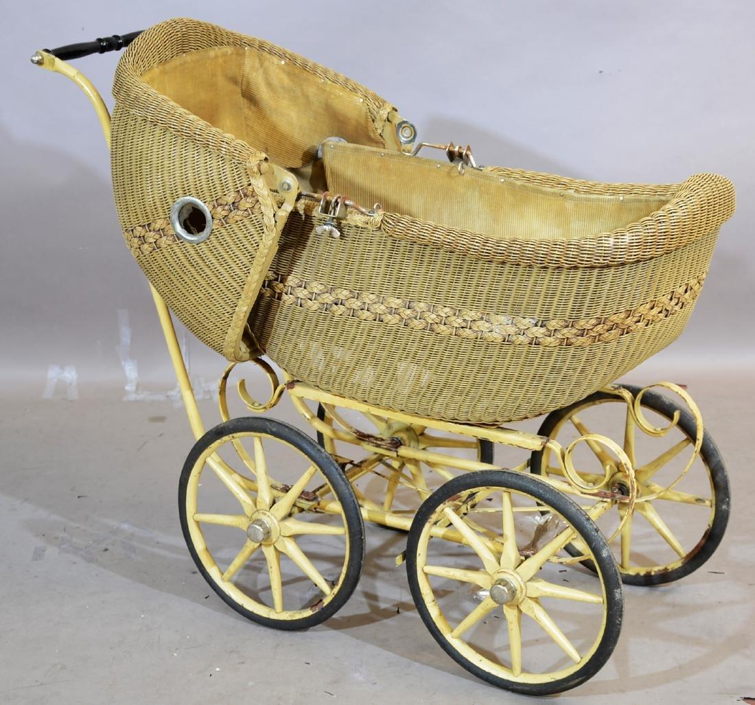 1920's Wicker Baby Buggy