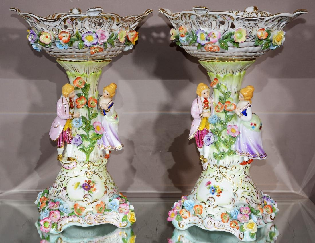 Pair of KPM Porcelain Compotes