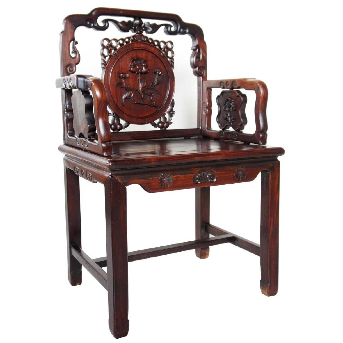 Antique Chinese Rosewood Armchair