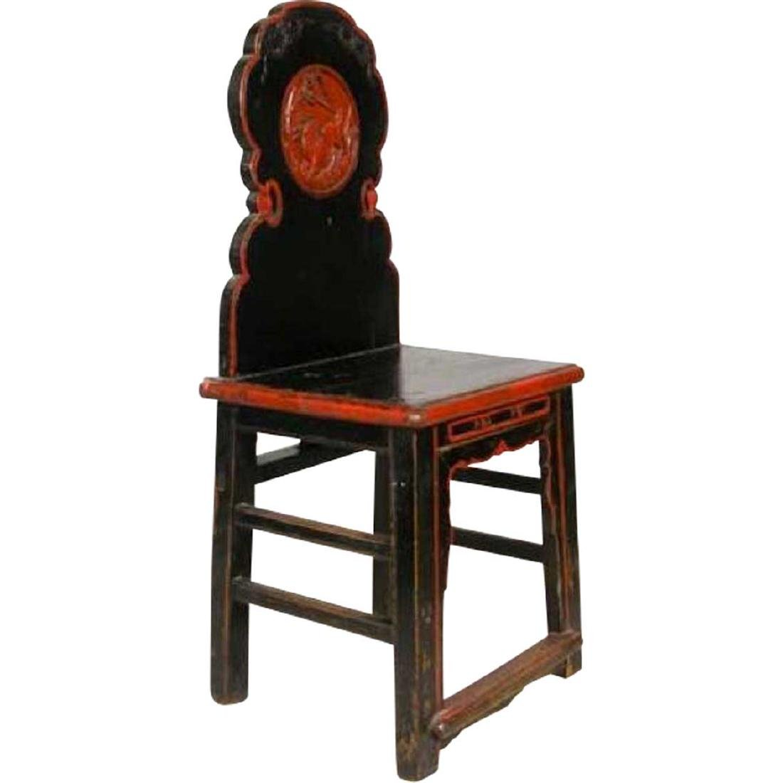 Antique Chinese Yunnan Province Applewood Side Chair