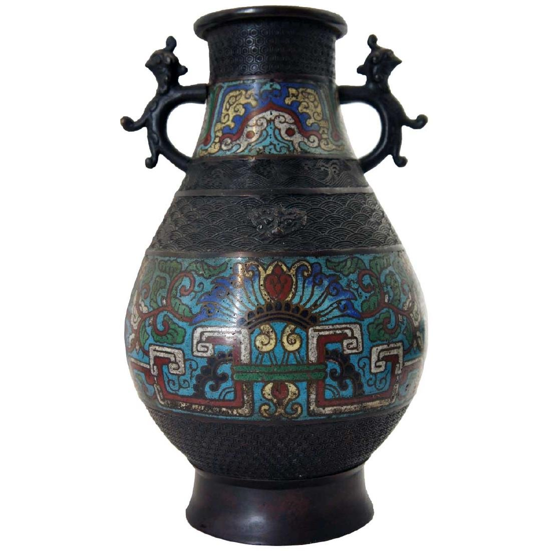 Japanese Export Cloisonne Table Lamp Base