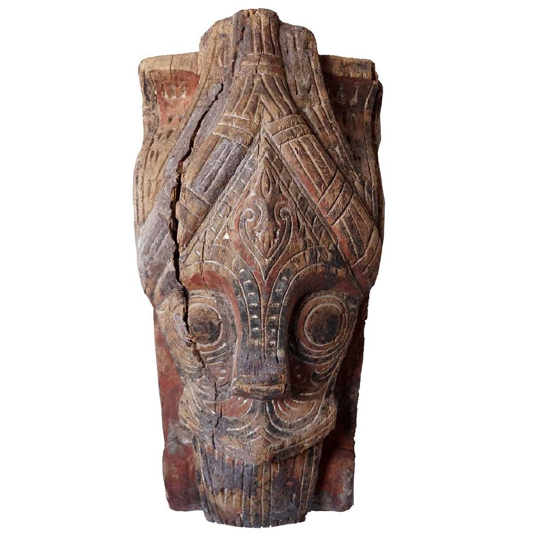 Indonesian Painted/Carved Wood House Guardian Mask