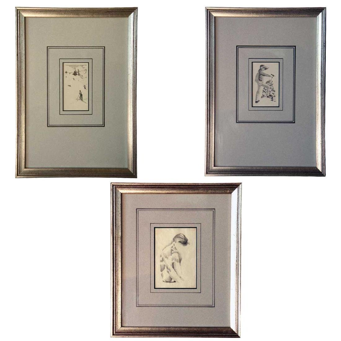 3 WILLIAM HENRY TRAHER Drawings