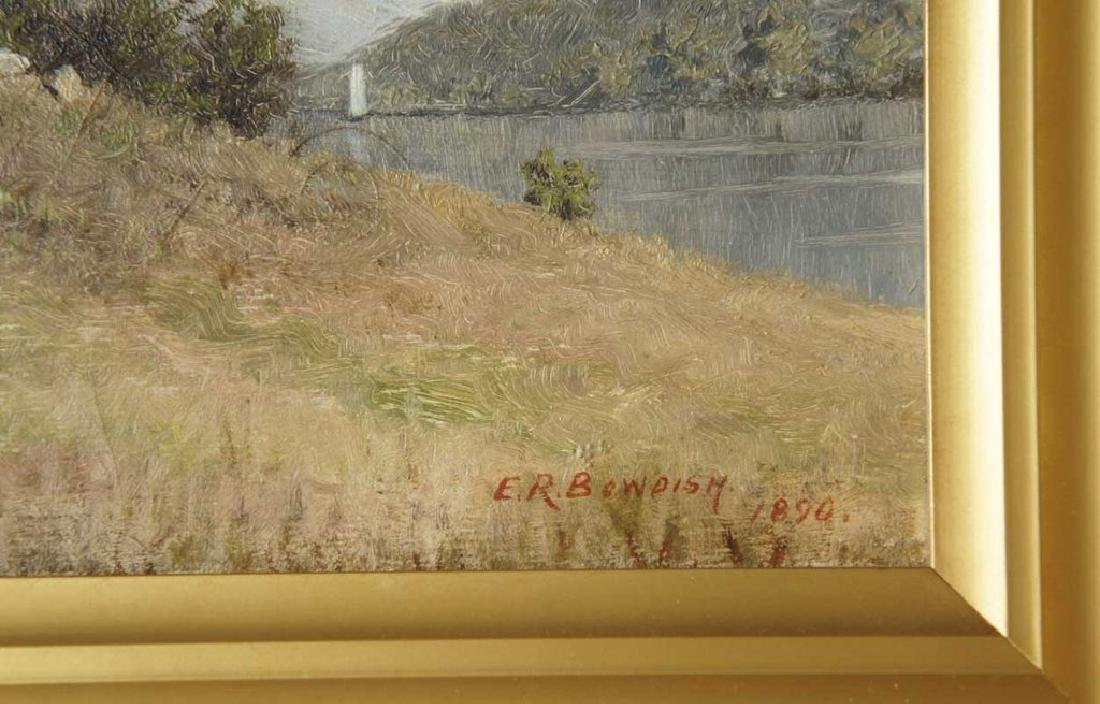 EDWARD ROMAINE BOWDISH Oil on Canvas Painting - 3