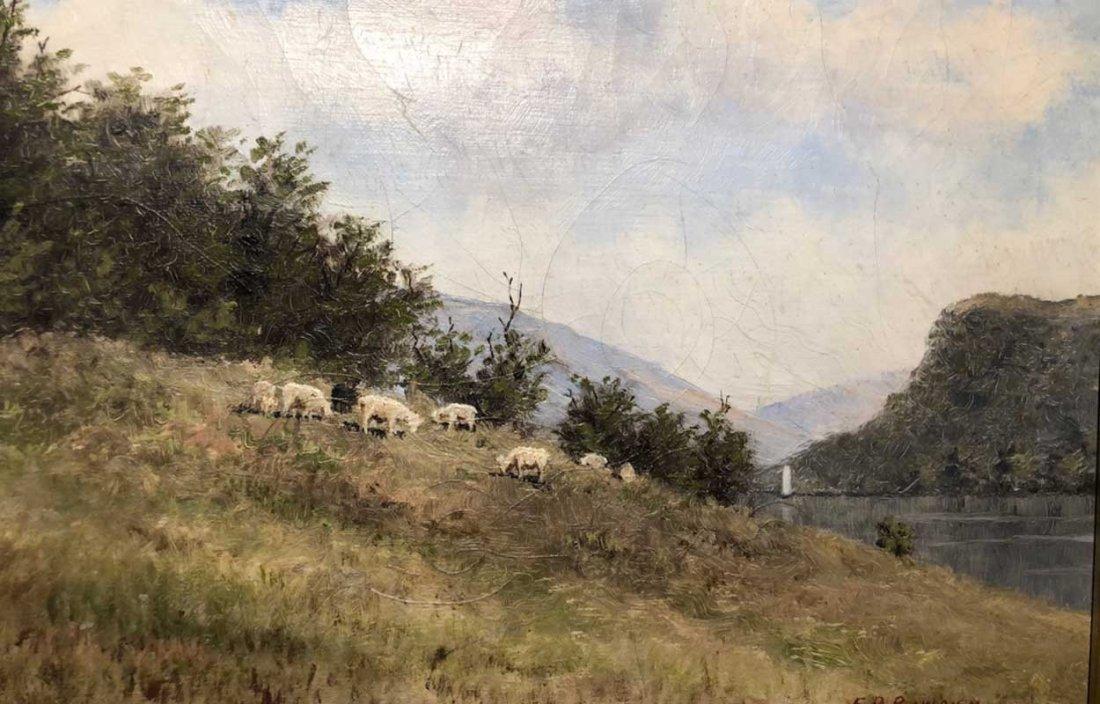 EDWARD ROMAINE BOWDISH Oil on Canvas Painting - 5