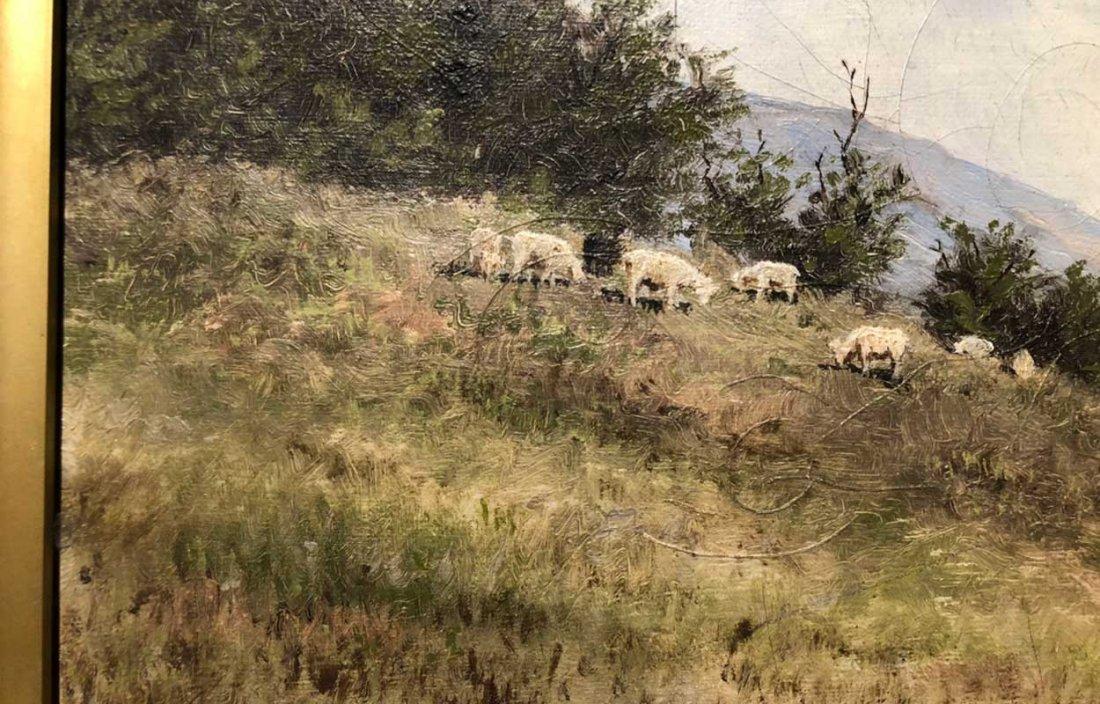 EDWARD ROMAINE BOWDISH Oil on Canvas Painting - 7