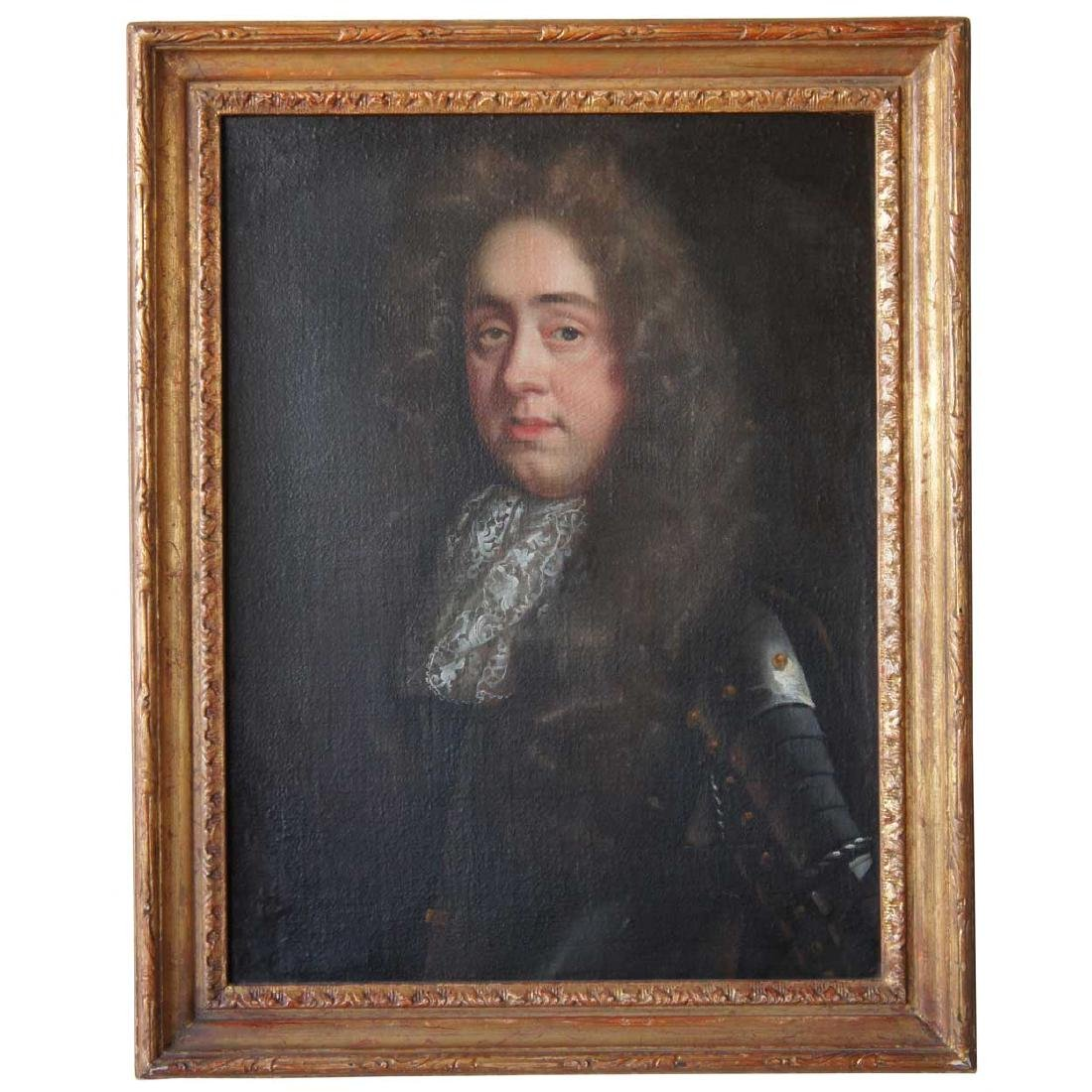 English 17th century Oil on Canvas Portrait Painting