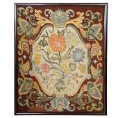 English George III Needlepoint Tapestry Panel