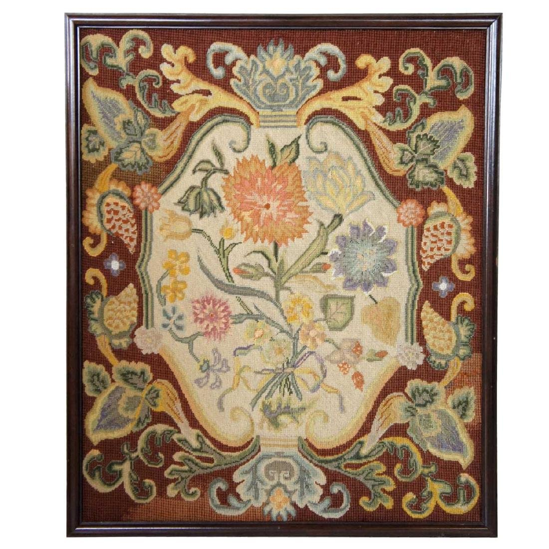 English George III Needlepoint Tapestry Panel
