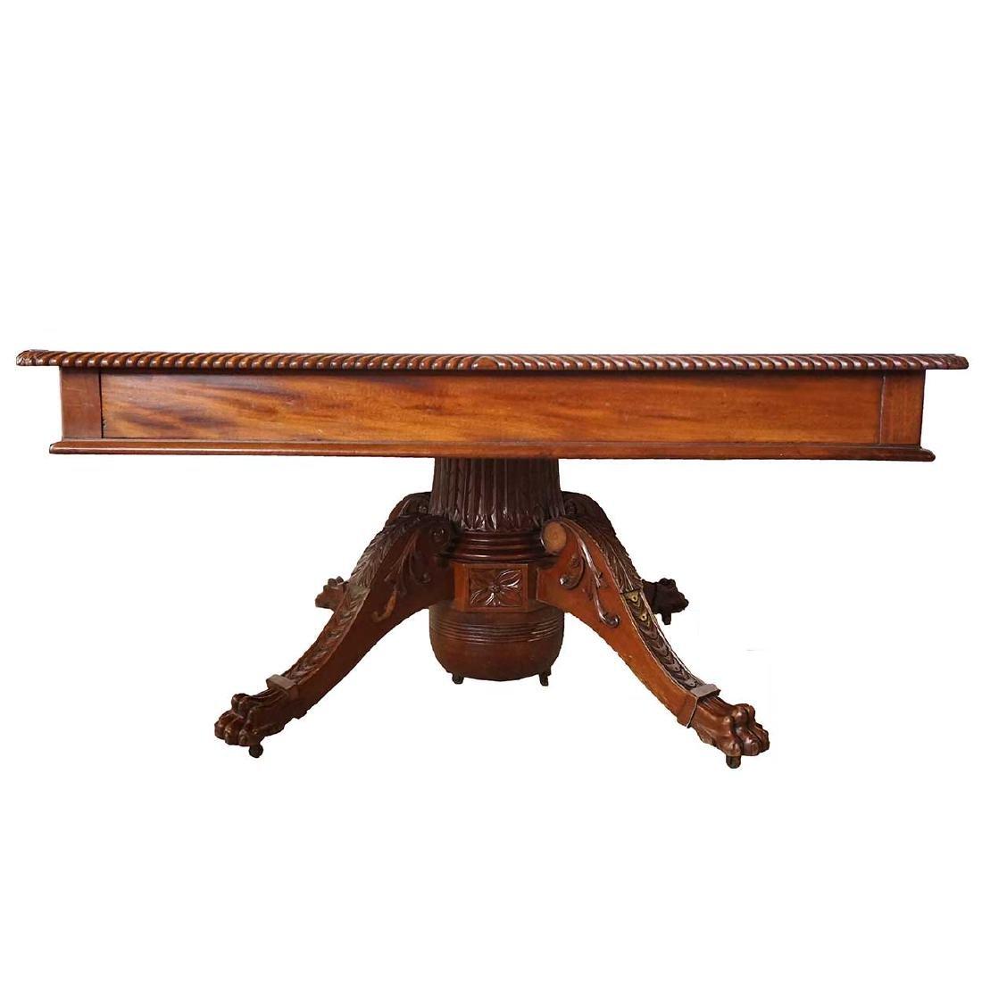 American Mahogany Extending Dining Table & Rack