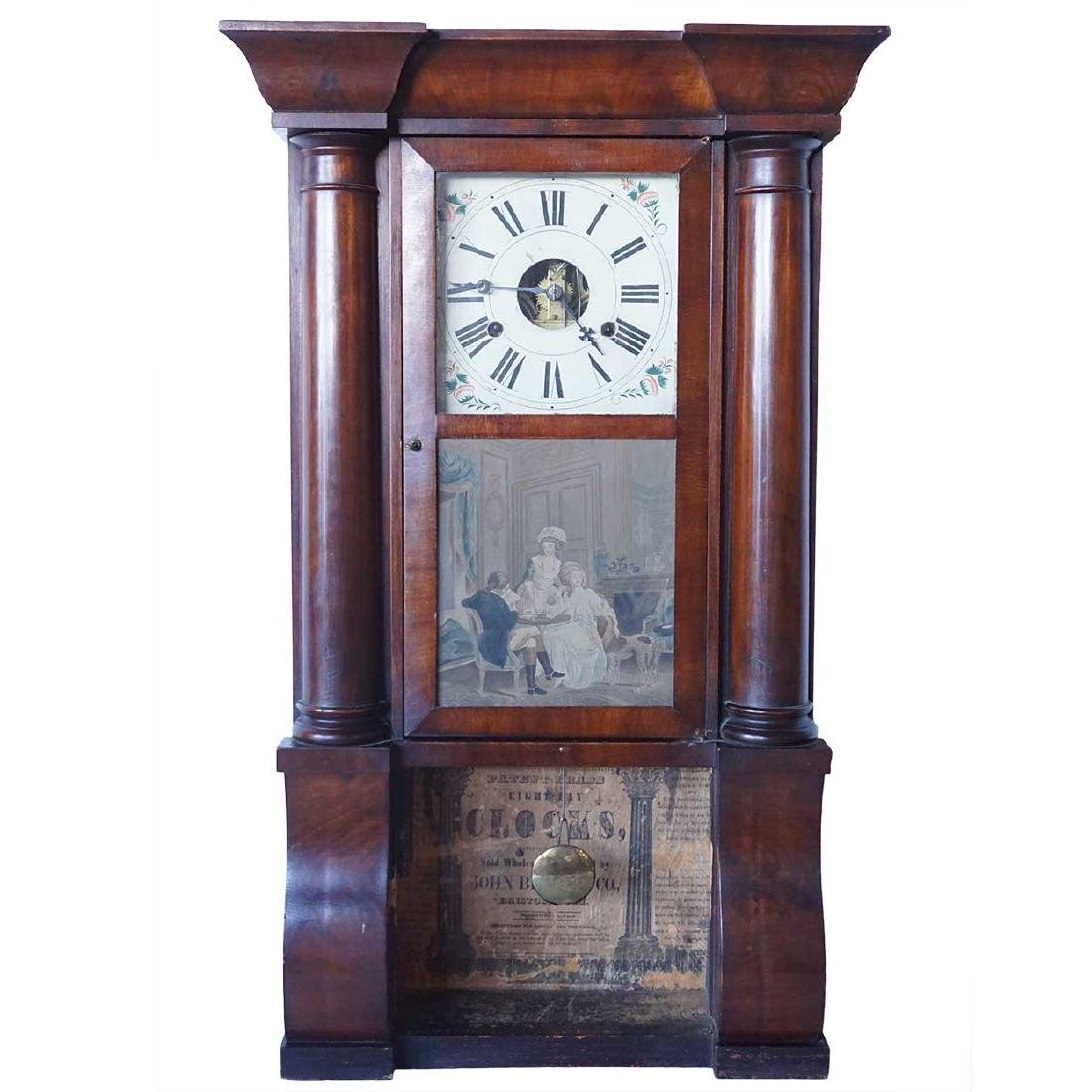 American John Birge Column & Cornice Shelf Clock