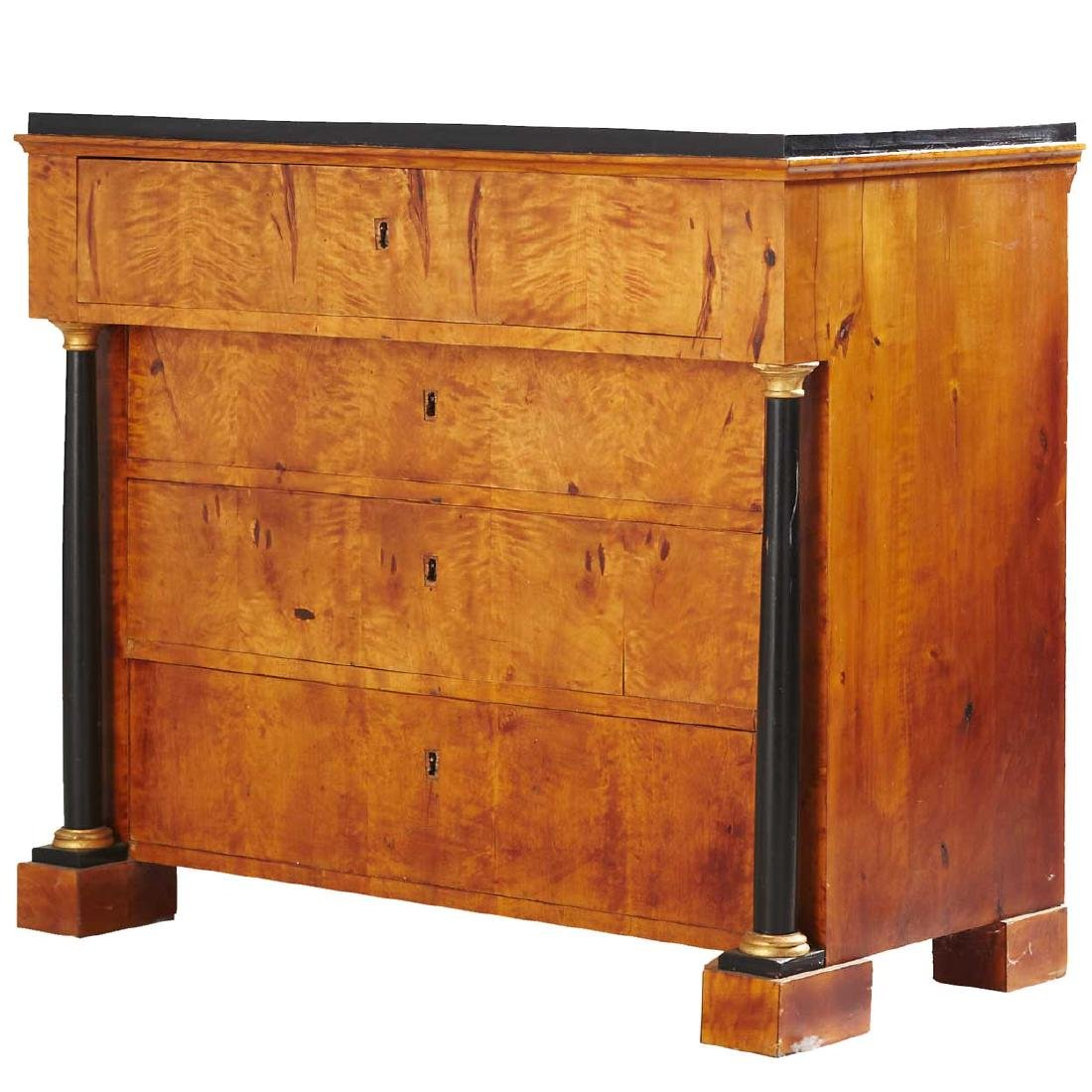 Swedish Biedermeier Style Birch Veneer Commode