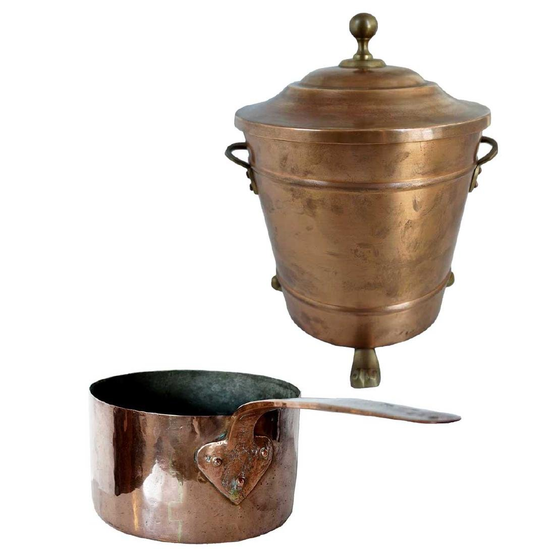 Copper Ice Bucket & French Cooking Pot