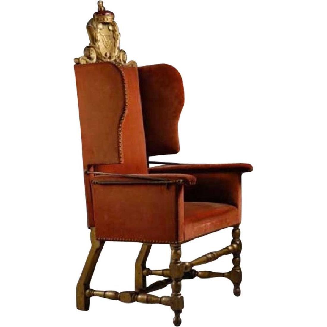 Rare Danish Royal Frederick IV Birch Reclining Chair