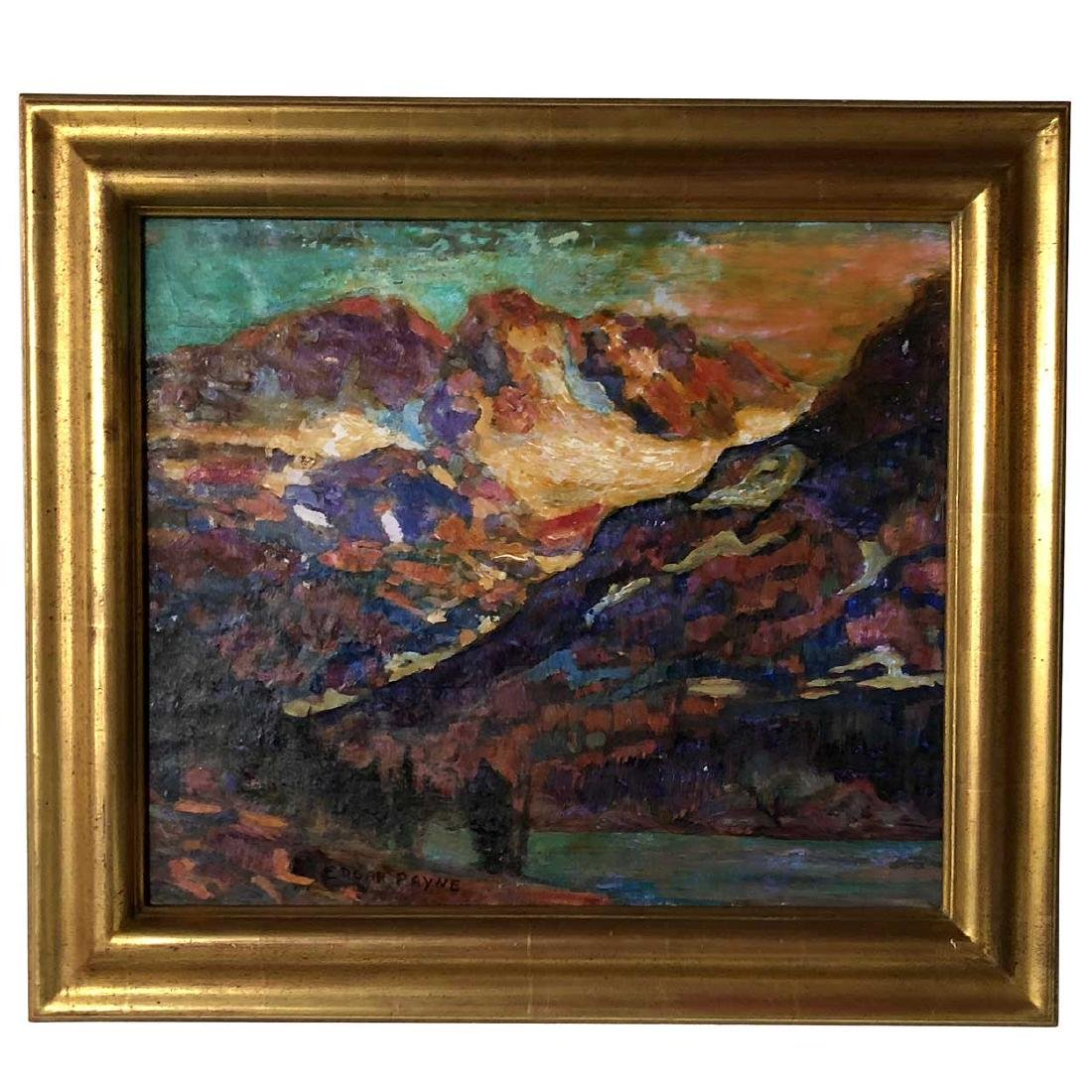 EDGAR ALWIN PAYNE Oil Painting, Sierra Mountain Lake