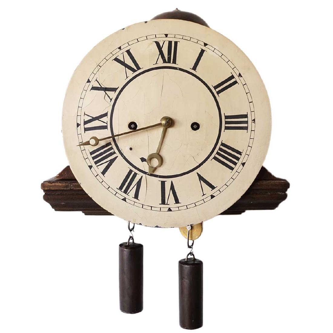 Antique Scandinavian Wall Bracket Clock