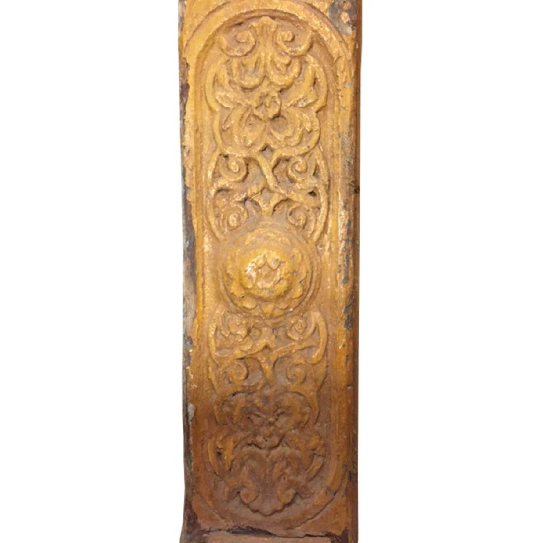 American Painted Pine Carved Architectural Panel