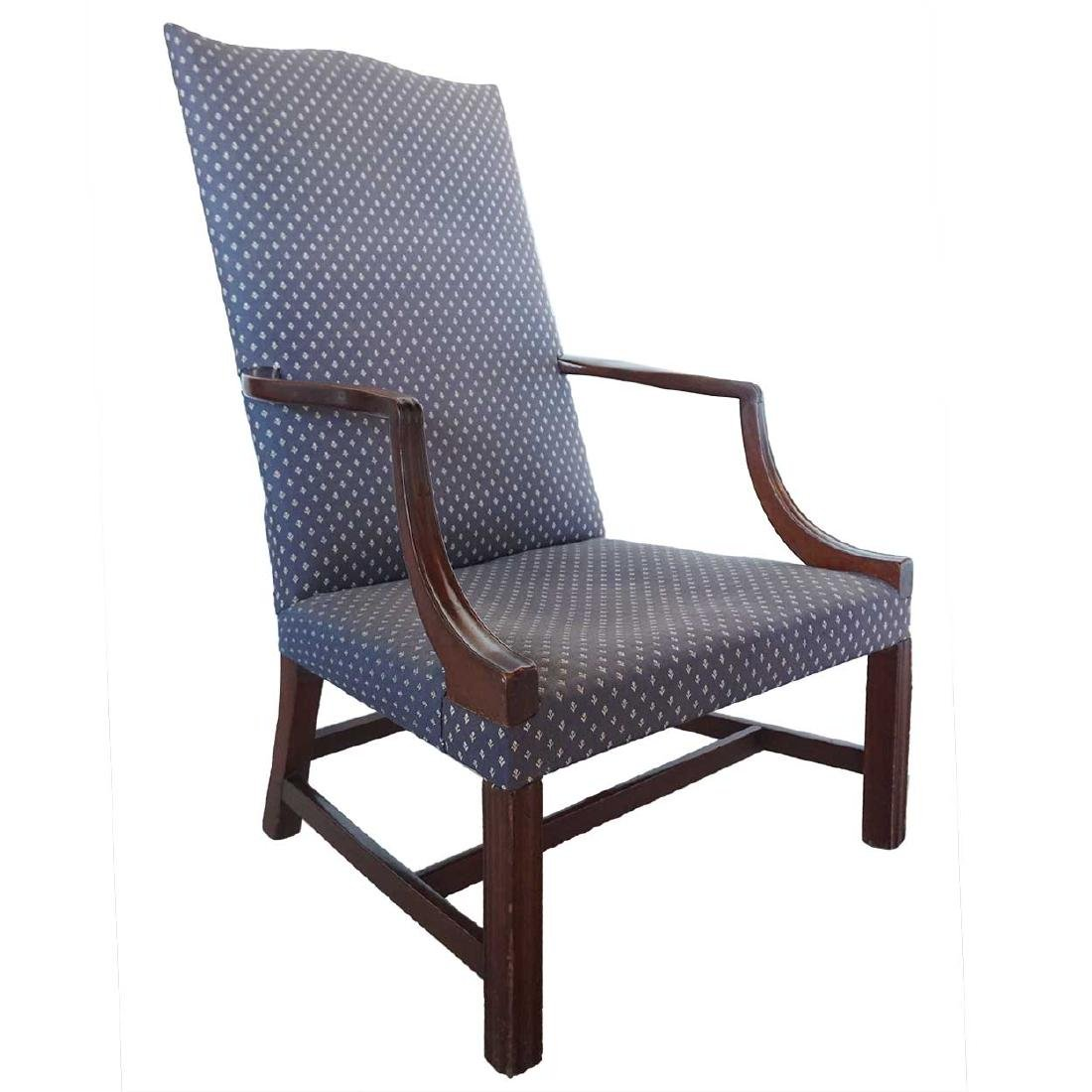 American New England Chippendale Mahogany Armchair