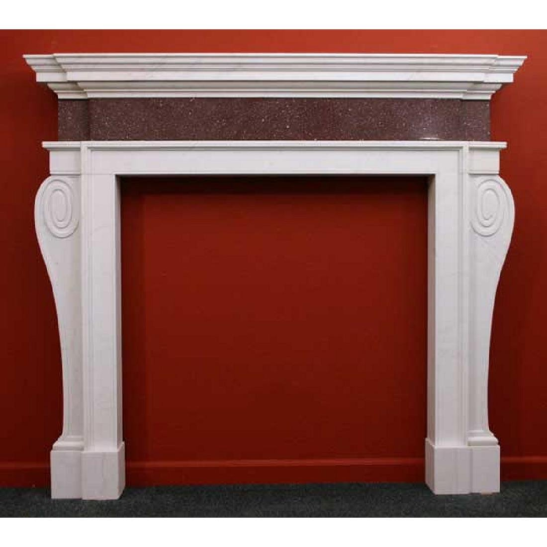 Palladian Style Marble Fireplace Surround