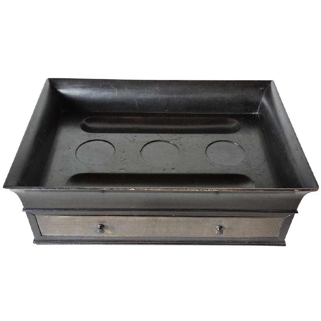 English Regency Brass Mounted Ebonized Desk Box