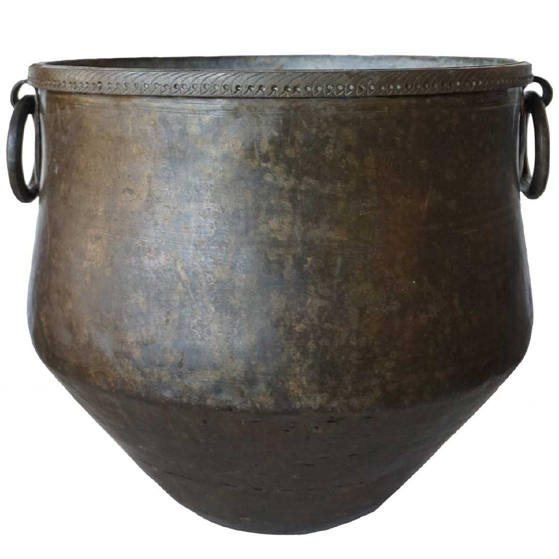 South Indian Hammered Brass Water Storage Pot
