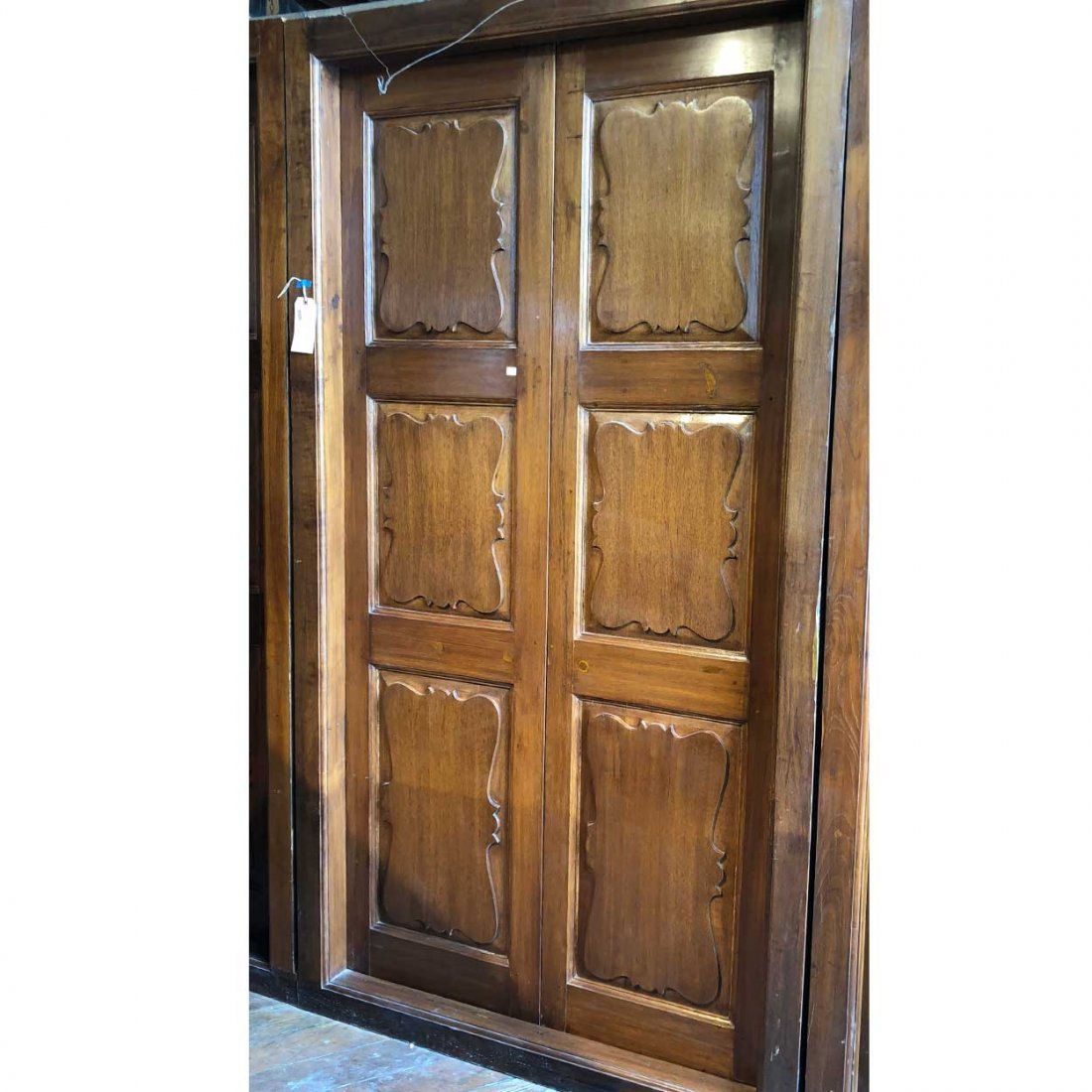 Large Anglo Indian Teak Interior Double Door