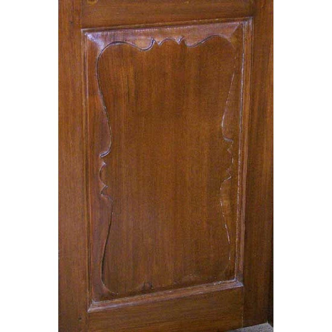 Large Anglo Indian Teak Interior Double Door - 2