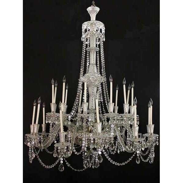 Very Large Vintage French Crystal 24-Light Chandelier