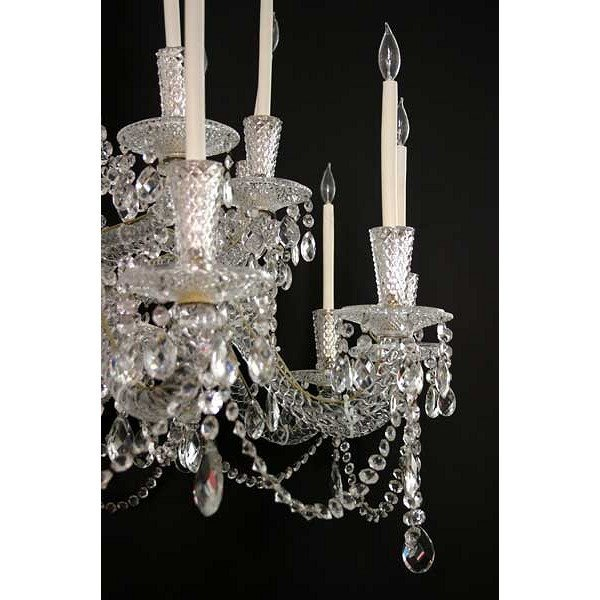 Very Large Vintage French Crystal 24-Light Chandelier - 3