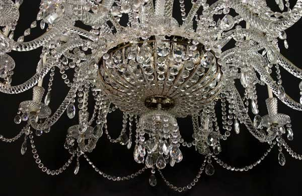 Very Large Vintage French Crystal 24-Light Chandelier - 4