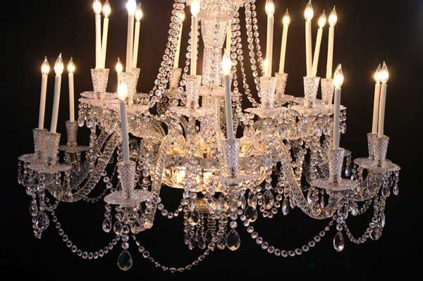 Very Large Vintage French Crystal 24-Light Chandelier - 5