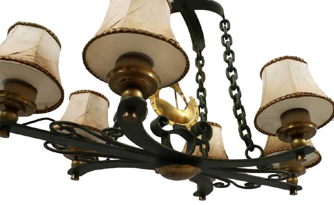 Vintage Swedish Brass and Bronze Ship Chandelier - 4