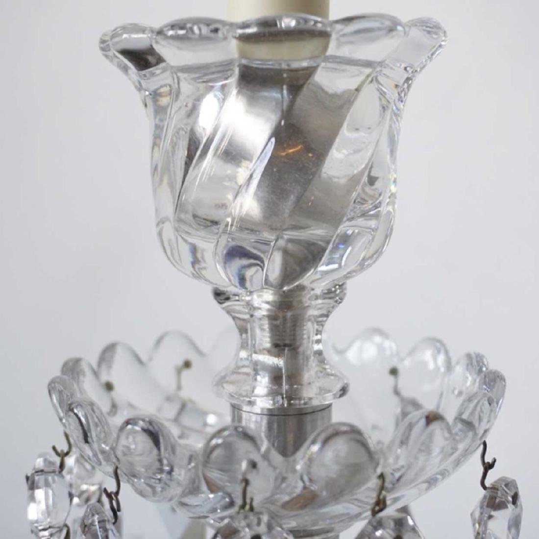 Pair of Crystal Two-Light Sconces Parts - 3
