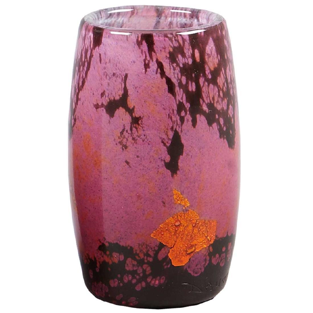 French Daum Verre de Jade Art Glass Cabinet Vase