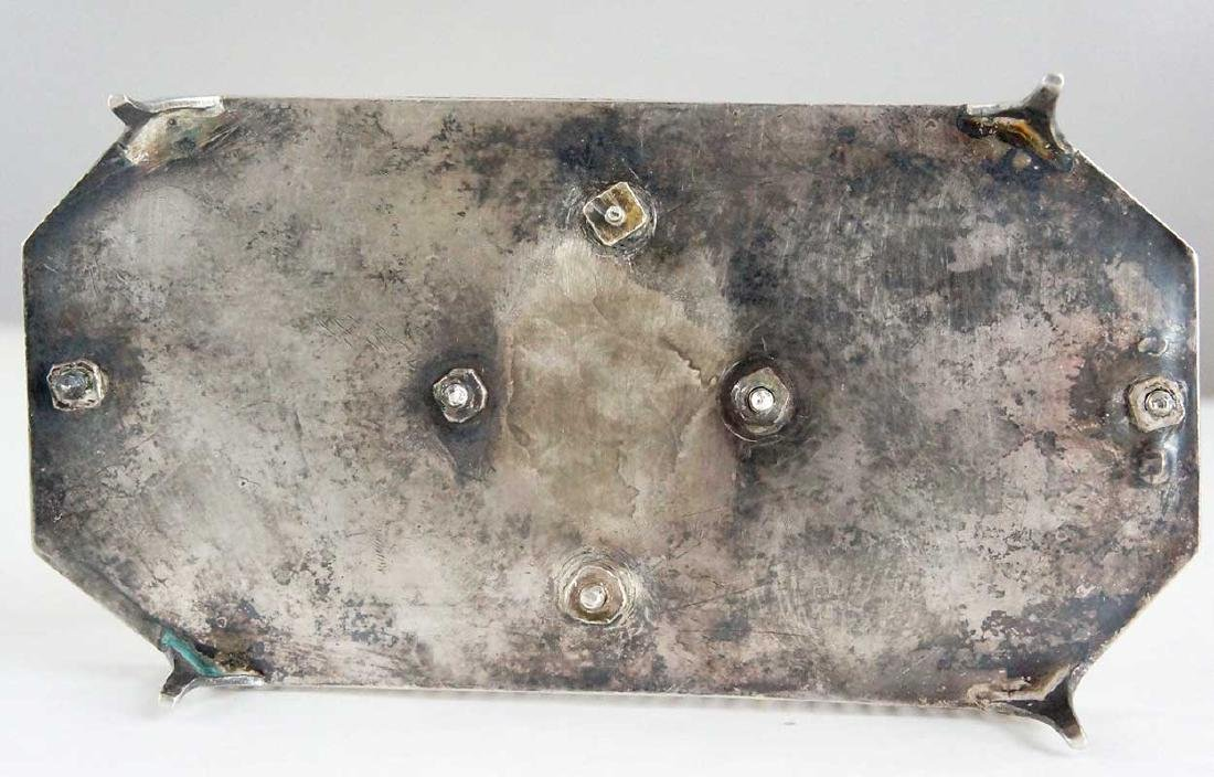 23 Antique Silver & Coin Silver Flatware & Cruet Stand - 5